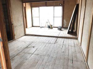 壁掃除あと床